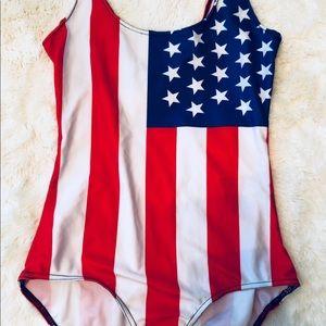 🇺🇸 USA Stars & Stripes Flag One Piece swimsuit